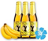 6 x DjuDju-Banana-Bier/DjuDju-Bananen-Bier Exotisches Afrikanisches Fruchtbier-Biermischgetränk Das ideale Geschenk. Gebraut nach einem uralten Rezept aus Ghana