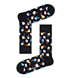 Happy Socks Unisex Ice Cream Socken, Black, 3-7 (Size:36-40)