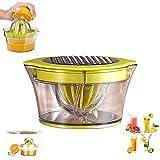 Zitronenorangensaftpresse, 4 In 1 Manueller Multifunktionaler Professioneller Fruchtsaftpresse, Kunststoffgürtel 400 Ml Behälter Und Sieb