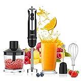 Stabmixer Acekool 5-in-1 Pürierstab Edelstahl BH1 Stabmixer Set 800W Stabmixer Edelstahl mit 12 Geschwindigkeiten & Turbotaste, geeignet für die Zubereitung von Babynahrung, Salaten,Suppen und Gemüse