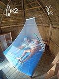 Eisberger Moskitonetz Outdoor & Indoor   Camping Moskitonetz für Reisen   Mückennetz Reise Malaria   Backpacking Reise-Moskitonetz für Doppelbett   Outdoor Moskitonetz Camping   Fliegennetz Camping