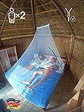 Eisberger Moskitonetz Outdoor & Indoor | Camping Moskitonetz für Reisen | Mückennetz Reise Malaria | Backpacking Reise-Moskitonetz für Doppelbett | Outdoor Moskitonetz Camping | Fliegennetz Camping