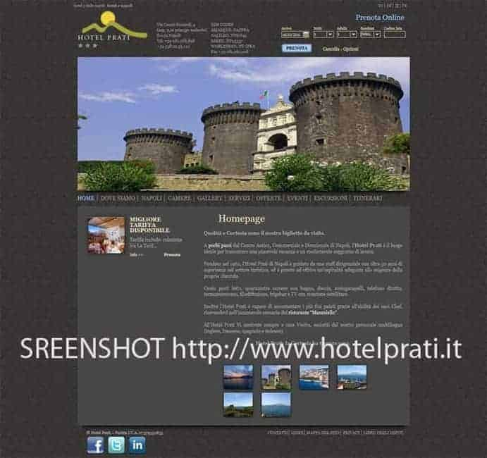 Screeshot Webseite Hotel Prati Neapel
