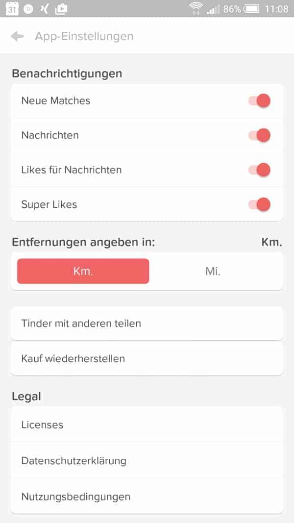 Benachrichtigungen von dating-apps