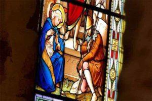 Buntes Glas Kirche Petrovice