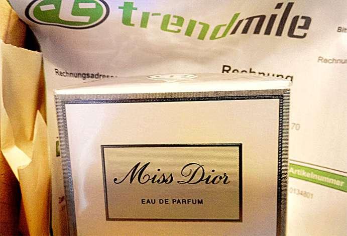 Testbestellung Trendmile Dior Miss Cherie Parfum