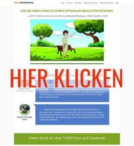Online Hunde Training Seite