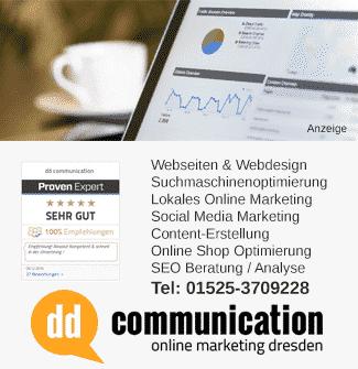 Webdesign Webseiten SEO und Online Marketing Dresden
