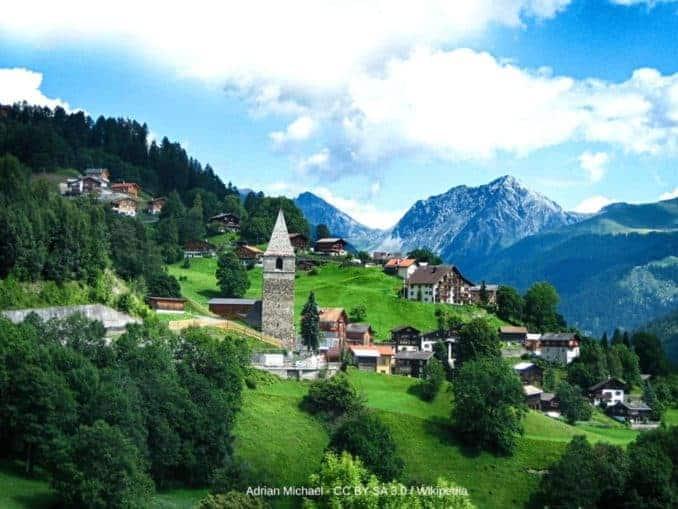 St. Peter Graubünden Schanfigg bei Langwies