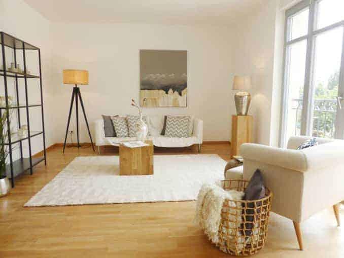 Home Staging Dresden Wohnzimmer Beispiel