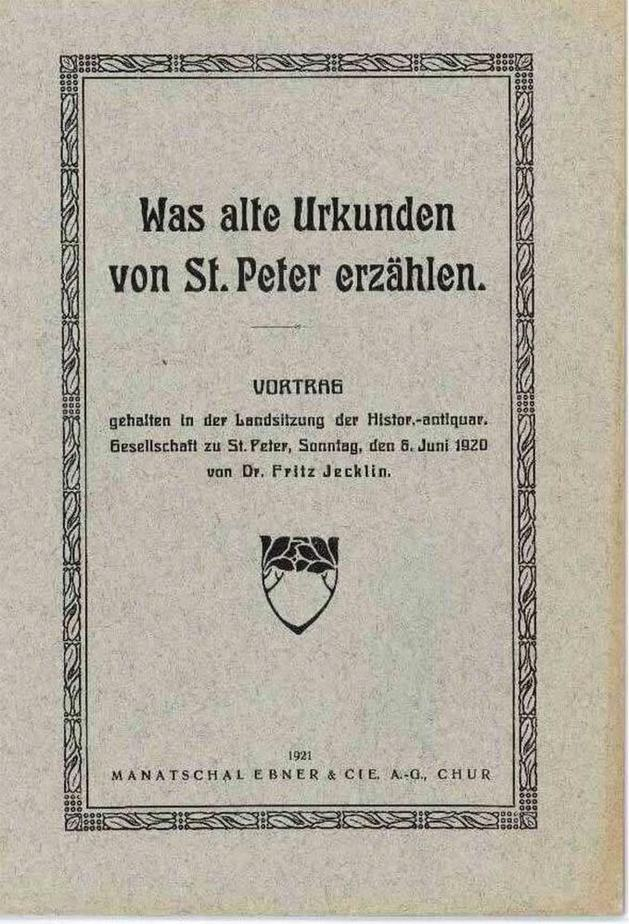 Alte Urkunden von St. Peter