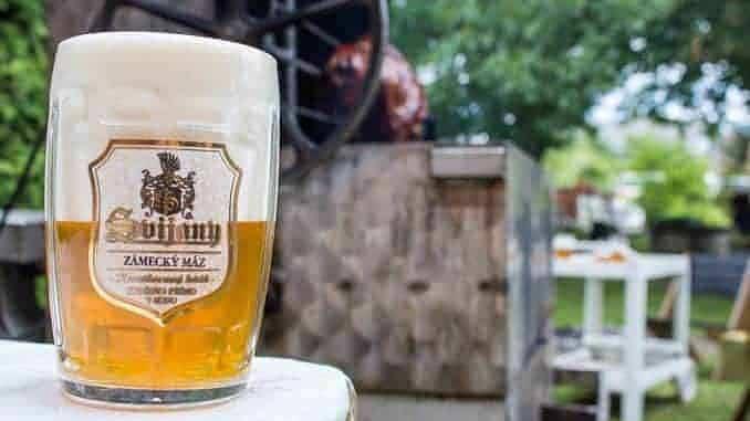 Kaltes Bier zur Gartenparty