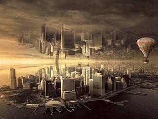 Zukunftsstadt von morgen