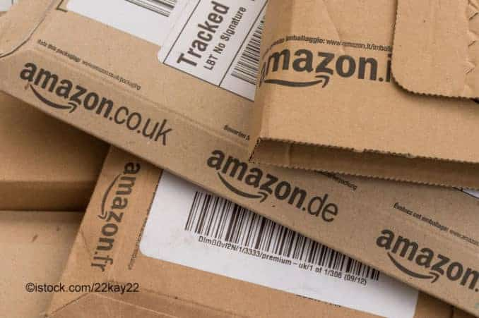 Online Versandhandel Amazon Paket / Päckchen