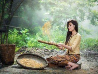 Frau in Asien