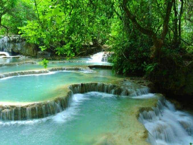 Wasserfall in Laos Luang Prabang