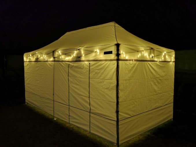 Hochzeit im PopUp Zelt
