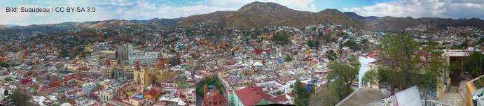 Panoramablick über Guanajuato
