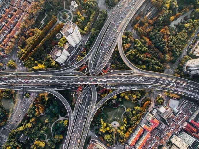 Autobahnnetz Deutschland (Beispielfoto)