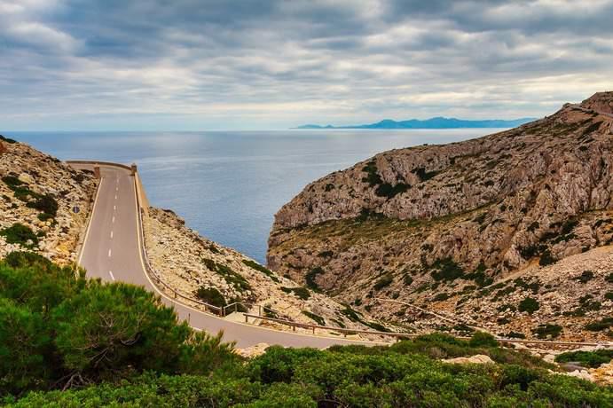 Straße auf Mallorca