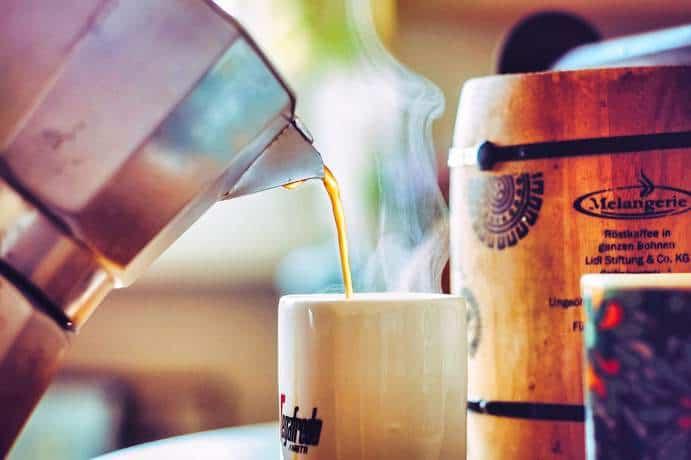 Ausgewählter Kaffee zum Brunch