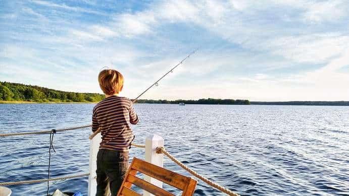 Angeln auf dem Hausboot