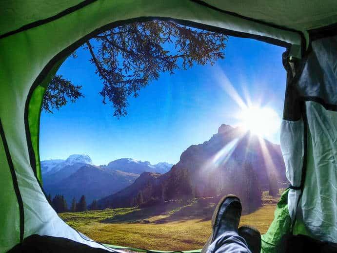 Sonne beim Camping